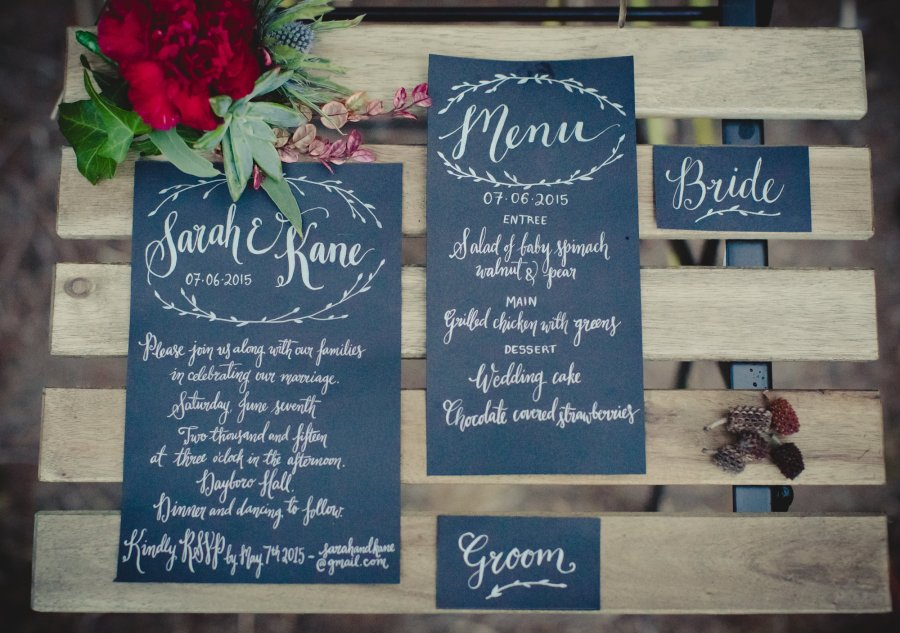 winter romance, styled shoot, custom calligraphy, name cards, wedding day of, menu calligraphy, modern calligraphy, invitation calligraphy